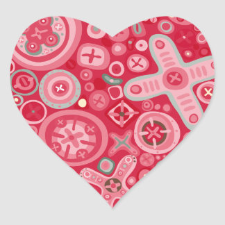 Quirky Heart Sticker