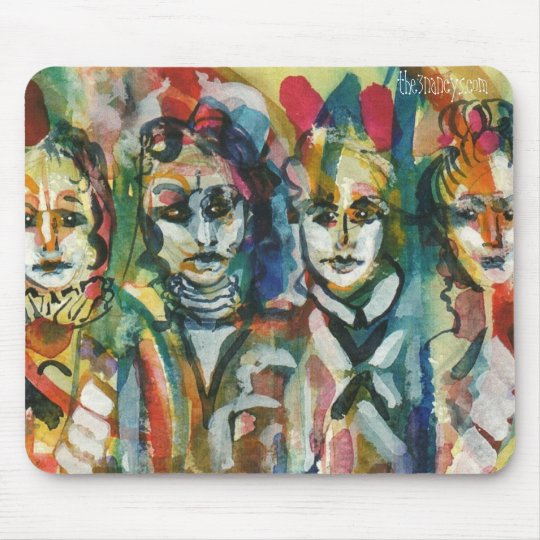 Quirky Ladies II Watercolor Mousepad