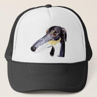 Quirky lurcher dog trucker hat