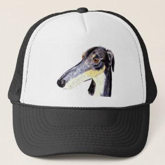 Quirky lurcher trucker hat