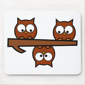 Quirky Owls Mouse Pad
