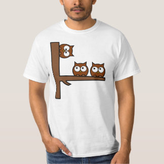 Quirky Owls Round The Bend T-Shirt