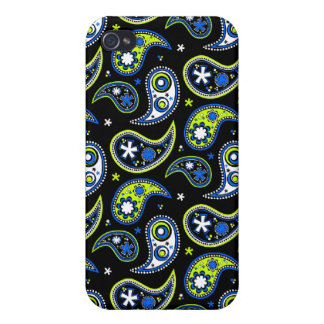 Quirky Paisley Blue and Green Cases For iPhone 4