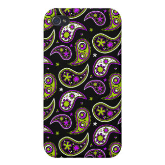 Quirky Paisley Pink and Green iPhone 4 Case