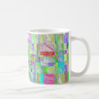 Quirky Quilt Abstract Design Mug