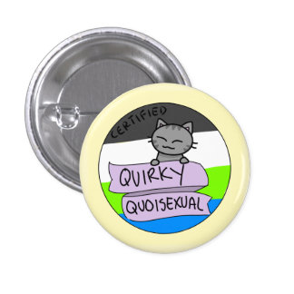 Quirky Quoisexual 3 Cm Round Badge