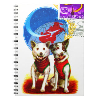 QUIRKY RETRO SPACE TRAVEL SPIRAL NOTEBOOK