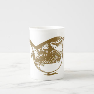 Quirky Round Wren Illustration Mug