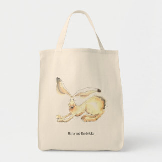 Quirky Stretching Hare tote bag