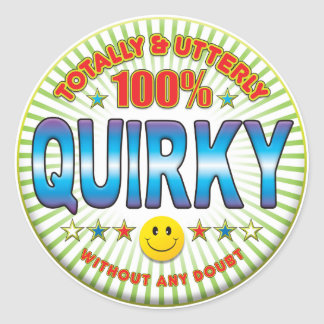 Quirky Totally Round Sticker