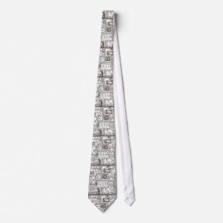 Quirky-Whimsical Abstract Geometric Doodle Tie