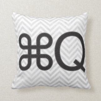 Quit Apple Q Mac Pillow
