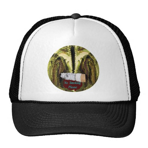 QUIT NOW -  Smoking is injurious to health Mesh Hat