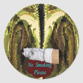 QUIT NOW -  Smoking is injurious to health Round Sticker
