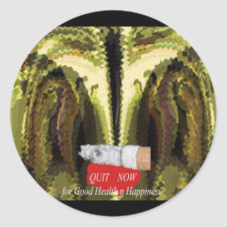 QUIT NOW -  Smoking is injurious to health v2 Round Sticker