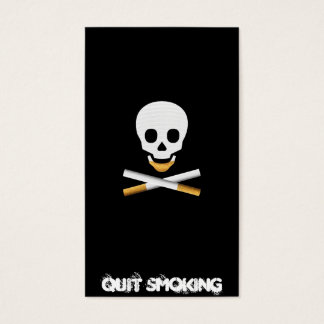 Quit Smoking Business card template