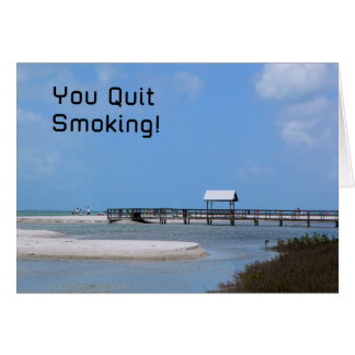 Quit Smoking Card with Beach Image