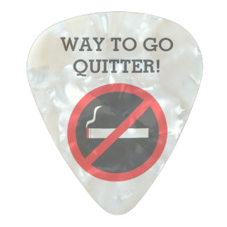 Quit smoking congratulations pearl celluloid guitar pick