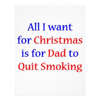 Quit Smoking Dad! 21.5 Cm X 28 Cm Flyer
