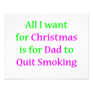 Quit Smoking Dad 2 Personalized Invitations