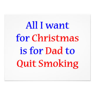 Quit Smoking Dad Personalized Announcement