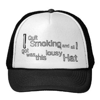 Quit Smoking Hats
