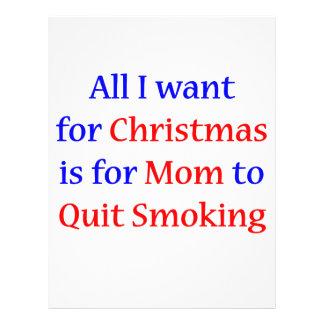 Quit Smoking Mom!  2 21.5 Cm X 28 Cm Flyer