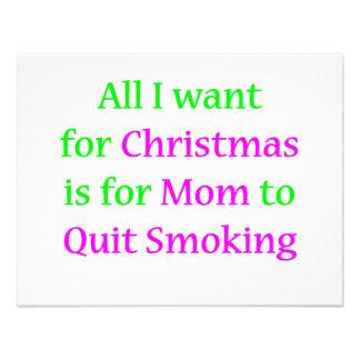 Quit Smoking Mom Custom Invites