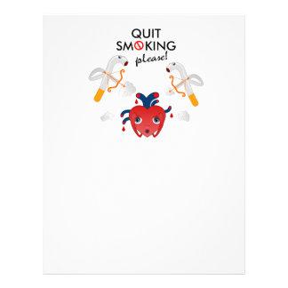 Quit smoking please 21.5 cm x 28 cm flyer