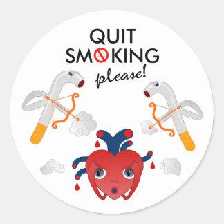 Quit smoking please sticker