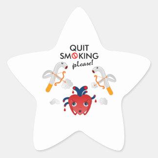 Quit smoking please star sticker