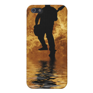 quitarist on moon surface cover for iPhone 5/5S