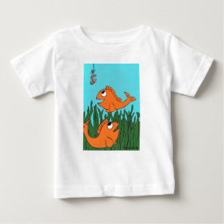 Quite a Catch Fih shirt, Hand Drawn and painted Tee Shirts