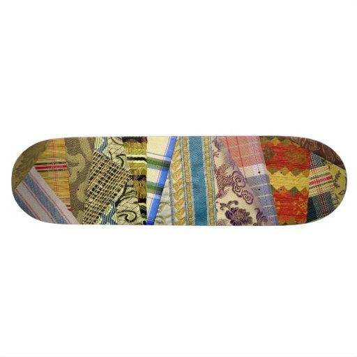 Quite Crazy Quilt Skate Board