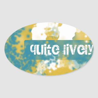 Quite Lively Oval Sticker