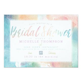 Quite Simply Watercolor Bridal Shower Invite