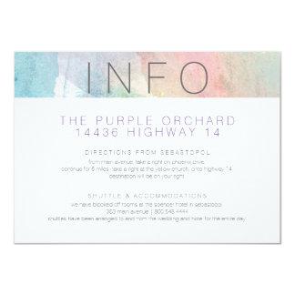 Quite Simply Watercolor Wedding Enclosure Card 2 11 Cm X 16 Cm Invitation Card