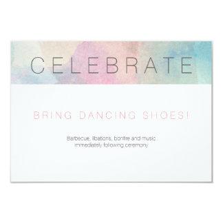 Quite Simply Watercolor Wedding Reception Card 2 9 Cm X 13 Cm Invitation Card