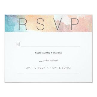Quite Simply Watercolor Wedding Respond Card 2 11 Cm X 14 Cm Invitation Card