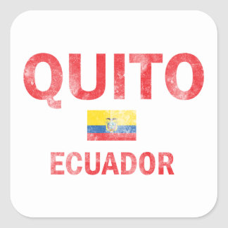 Quito Ecuador Designs Square Sticker