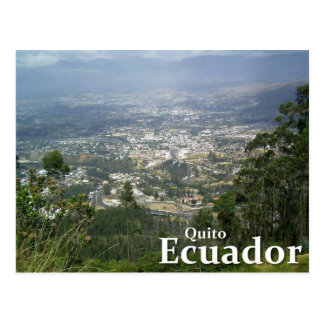 Quito, Ecuador from the Metropolitano Park Postcard