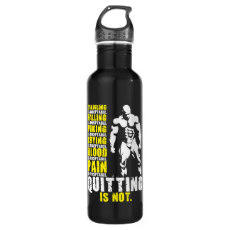 Quitting Is Not Acceptable - Workout Motivational 710 Ml Water Bottle