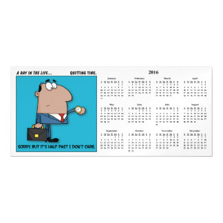 Quitting Time 2016 Calendar Magnetic Invitations