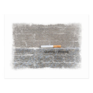 Quitting Winning Anti-Smoking Last Cigarette Postcard