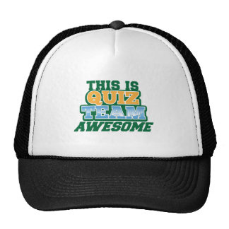 QUIZ TEAM AWESOME! New Zealand pub quiz Mesh Hats