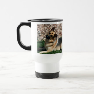 Quizzical German Shepherd Travel Mug