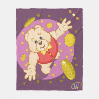Quizzy Bear Fleece Blanket