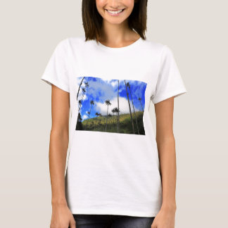 Qunidio wax palms in Cocora Valley of Colombia T-Shirt