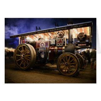 'QUO VADIS' - STEAM ENGINE GREETING CARD