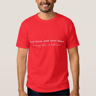 Quot libros quam breve tempus tshirts